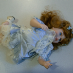 unknown maker Porcelain Doll of a young girl crawling